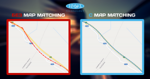 Viasat technology map matching
